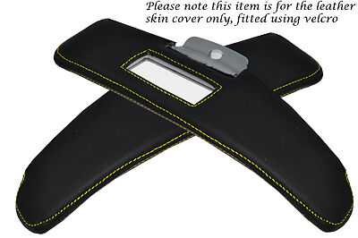YELLOW STITCHING FITS SMART ROADSTER 03-05 2X SUN VISORS LEATHER COVERS ONLY