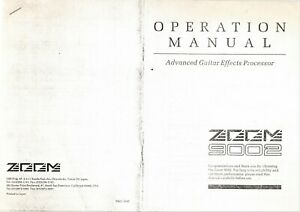 ZOOM-9002-Operation-Manual-Good-Condition