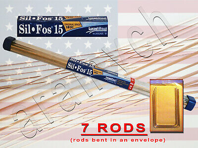 7 Rods Sil Fos 15 Bcup 5 Lucas Milhaupt Brazing Rods 15