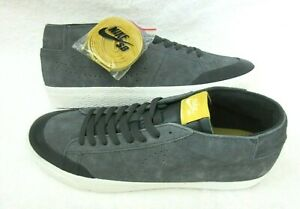 Nike-Mens-SB-Zoom-Blazer-Chukka-XT-Anthracite-Grey-Suede-Skate-Shoes-Size-10-5