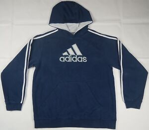 Rare Vtg Stripes Sweatshirt Spell Details Embroidered Trefoil 3 About 90s Hoodie Out Xl Adidas dtsQrhC