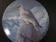 Knowles 1989 Majestic Birds THE WHITE GYRFALCON Daniel Smith MIB Ltd Ed Plate