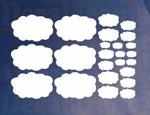 Feuille de 24 petits nuages Enfants Chambre à coucher-Salon Murale-Placard Art Autocollants-Transferts-fersafficher le titre d`origine 6ADbinCF-07193635-801118453