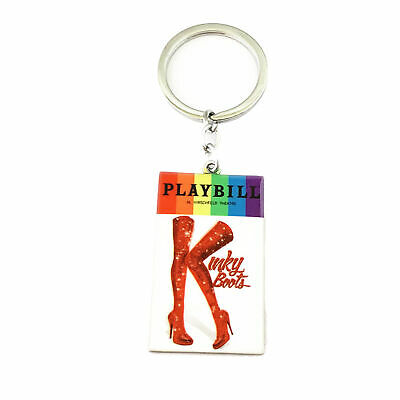 Seussical Playbill Broadway Production Silvertone Charm Pendant Keychain