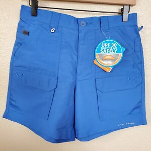 NWT-Columbia-PFG-Permit-II-Men-039-s-Size-30-034-W-6-034-Shorts-Quick-Dry-Vivid-Blue