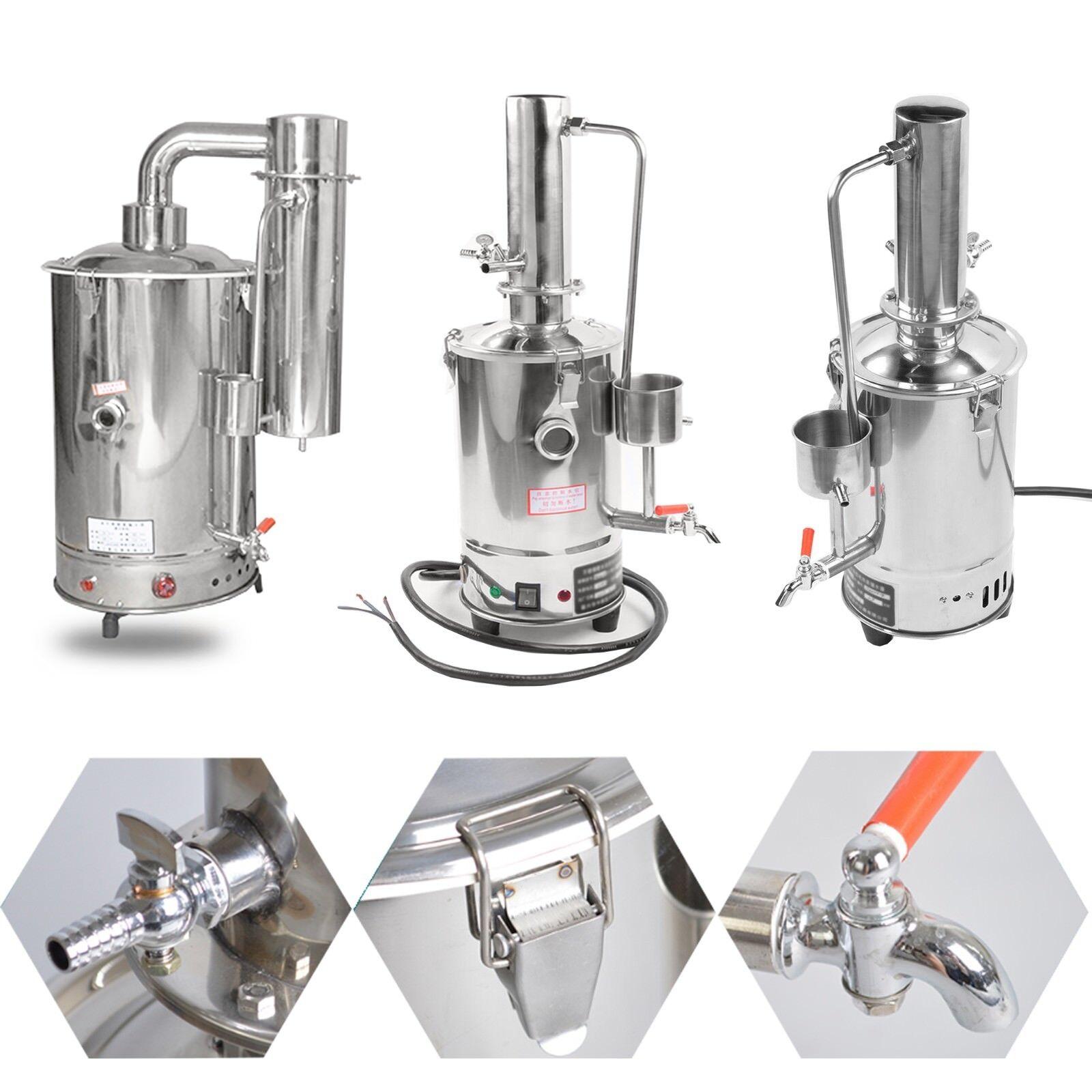 3L-20L Nouveau Laboratoire de l'eau pure électrique inoxydable Distiller moonshine still Filtre