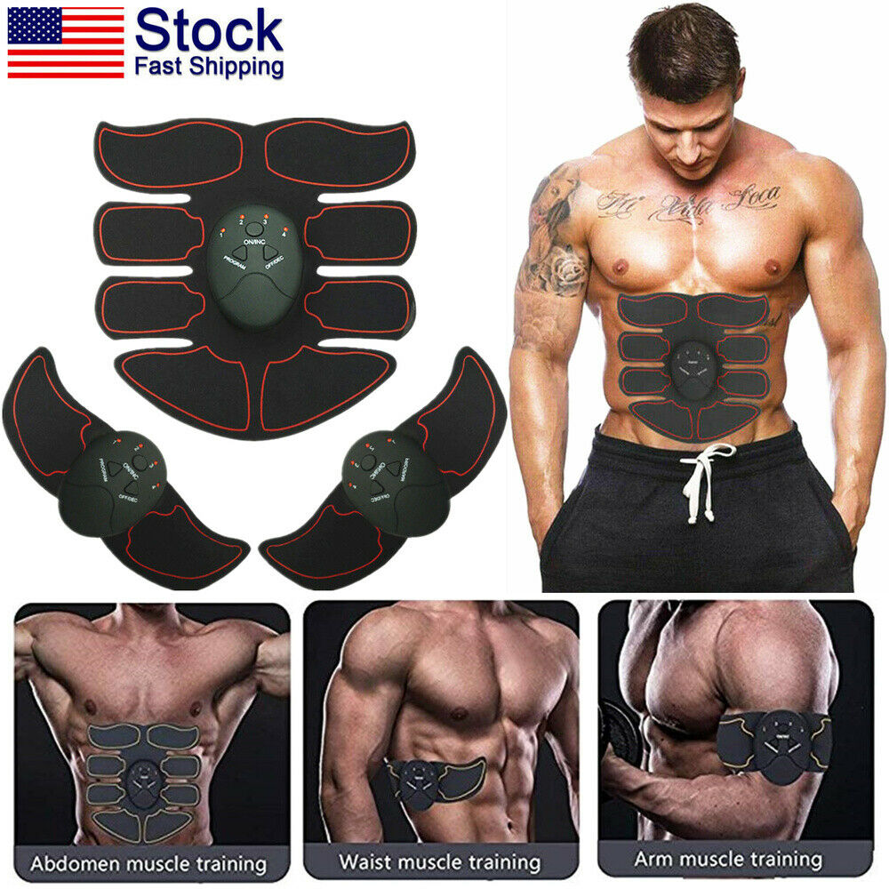 Ultimate EMS  /& Arms Muscle Simulator ABS Training Home Abdominal Trainer Set