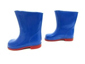r28a Warm And Windproof kett Spot On 1r92-95129 D Infants Blue/red Wellington Boots Uk 3 & 4