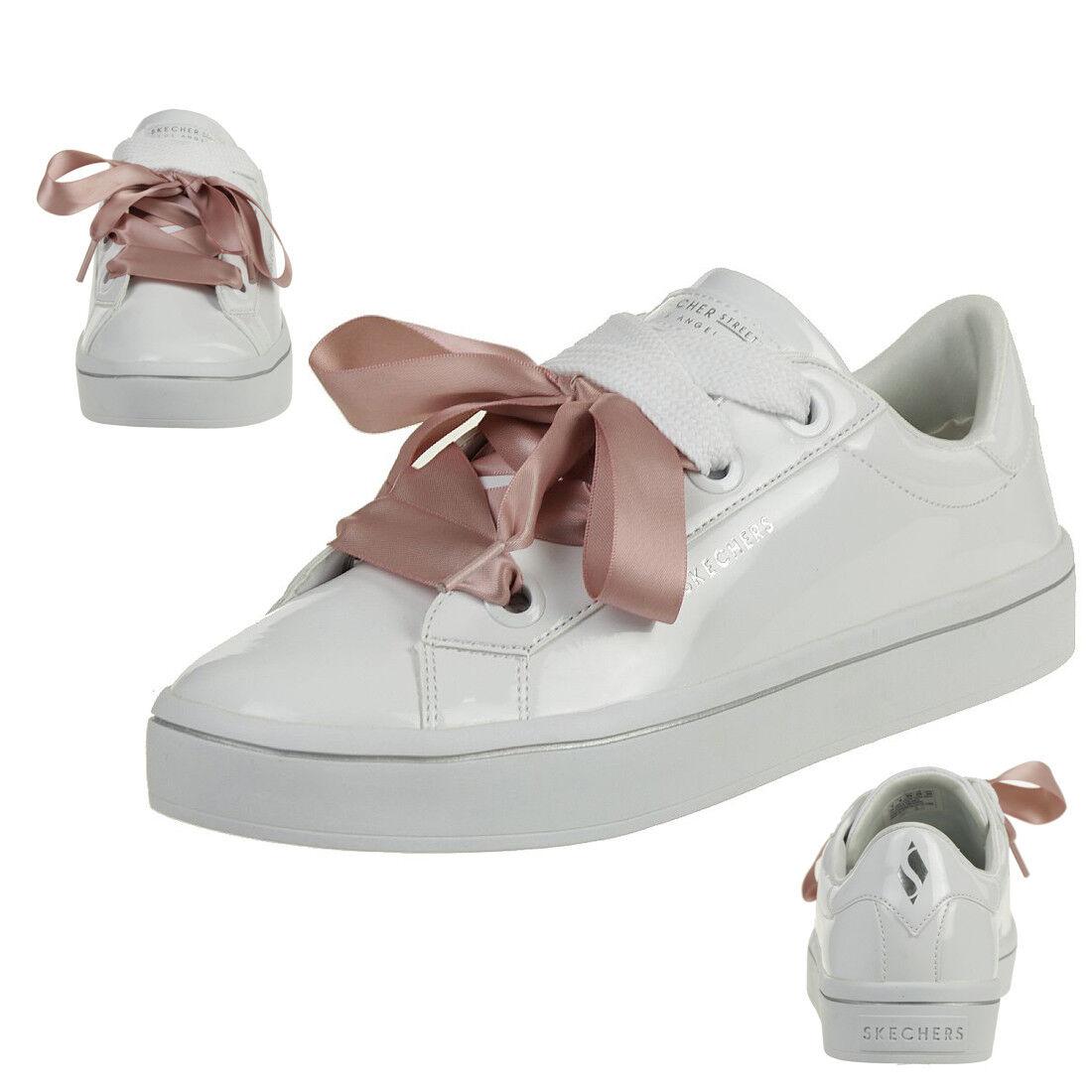 Skechers Hi-lites Slick chaussures baskets Femmes Blanc Verni 959 Wht