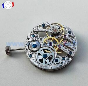 Mouvement-de-montre-Seagull-base-Unitas-6497-squelette-Mechanical-watch-movement