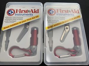 (2) Be Smart Get Prepared First Aid Instruments Kit - 3ct NEW