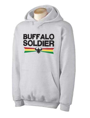 Rasta Reggae Bob Marley T-Shirt Choice Of Colour BUFFALO SOLDIER HOODIE
