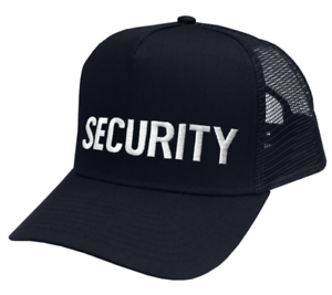 Security-hat-white-lettering-on-dark-navy-mesh-cap-one-size-fits-all-6748tm