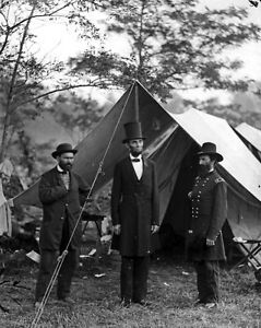 Abraham Lincoln General George McClellan at Tent Civil War 8 x 10 Photo Picture