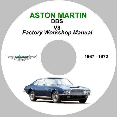Aston Martin DBS V8 Factory Workshop Service Repair Manual – 1967 - 1972 Models.