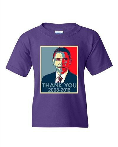New Thank You President Obama United States America USA DT Youth T-Shirt Tee