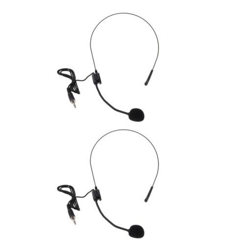 "Für Sprachverstärker Lautsprecher 3,5 Mm 2pcs Mikrofon-Headset 1//8 /"""