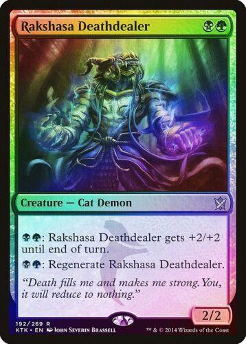 Rakshasa Deathdealer FOIL Khans of Tarkir NM-M Black Green Rare CARD ABUGames