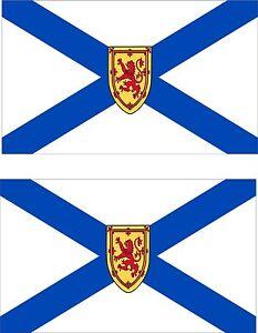 Set of 2x sticker vinyl car bumper decal outdoor canada moto flag Nova Scotia