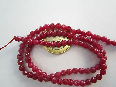 1 filo in radice di rubino sfere sfaccettate di 2,5 mm contiene circa 160 pietre