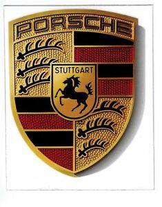 Genuine Porsche Coloured Crested Badge Sticker