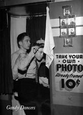 Vintage Photo Re-Print. Cute Gay Boys In A Photobooth. GD-310