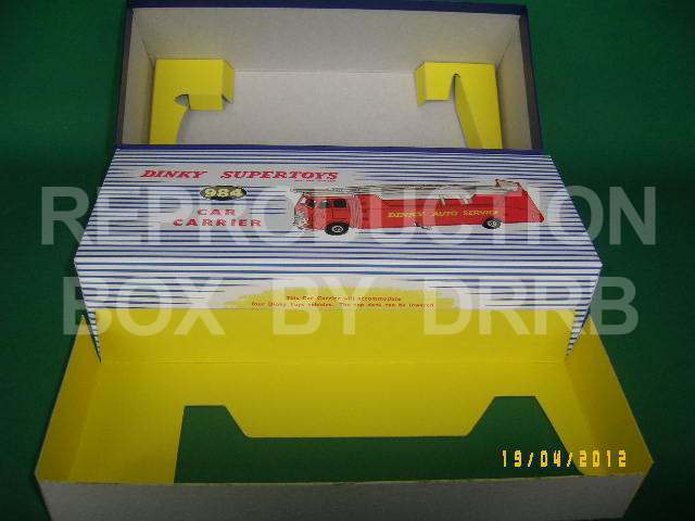 Dinky Car Carrier - Reproduction Box by DRRB