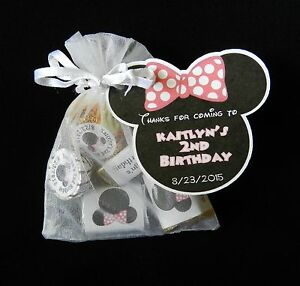 Personalized Minnie Mouse Birthday Party Baby Shower Party Favor