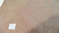 Brown Burgundy Dot Print Jacquard Upholstery Fabric Remnant  F991