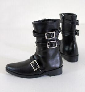 1//3 bjd sd13 sd17 boy doll shoes black martin boots super dollfie luts ship US