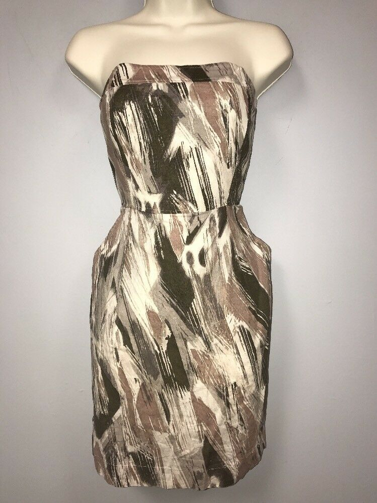 Banana Republic Cotton/Linen Blend Strapless Dress Size 2