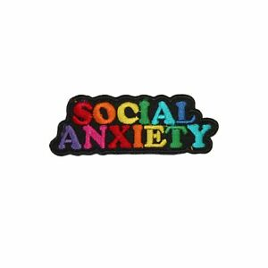 Social-Anxiety-Rainbow-Funny-Iron-On-Patch-Applique-Transfer-Sew