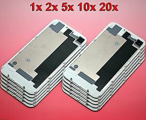 LOT-White-iPhone-4S-Back-Glass-Rear-Door-Battery-Case-Cover-replacement