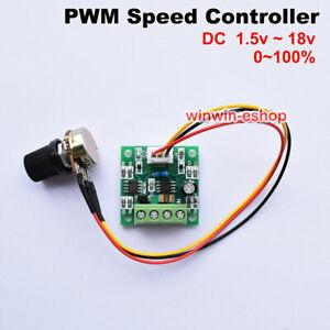 DC New 1.8V 3V 5V 6V 12V 2A Niederspannung PWM Motor Speed Controller Regulator