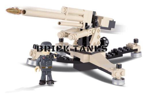 Flak 36//37 8.8cm COBI 2367-100 brick anti-aircraft gun