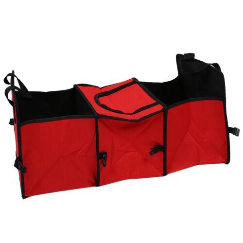 Red 2 in 1 Car Boot Organiser Shopping Tidy Heavy Duty Foldable U2F2