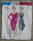 Vintage Vogue Paris Original Pattern # 1047 Designer Jacques Heim Dress 14 1960