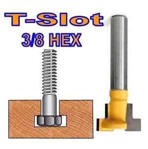 "1 pc 1/4"" SH T-Slot & T-Track Slotting For 3/8"" Hex Bolt Router Bit"