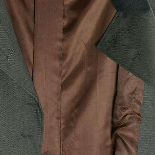 WW2 Repro Long Great Trench Coat Army German M36 Gabardine Officers Greatcoat