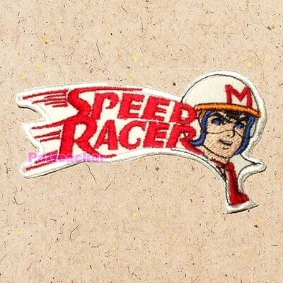 Speed Racer Driving Mach 5 Patch Racing Car Mifune Racer X Embroidered