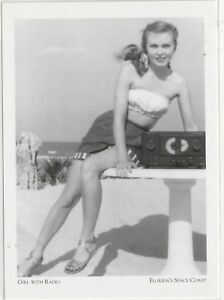 Postcard-034-The-Beach-Girl-with-Radio-034-1950-039-s-Florida-039-s-Space-Coast-109