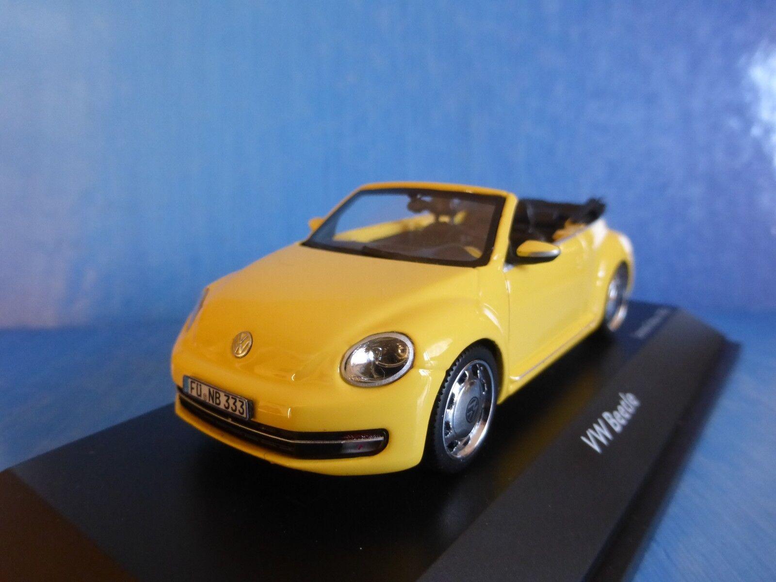 VW VOLKSWAGEN NEW BEETLE CONVERTIBLE 2013 SATURN jaune SCHUCO 07476 1 43 jaune