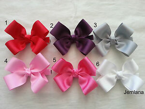Jemlana-039-s-Handmade-school-hair-clip-for-girls-red-pink-white-grey-violet