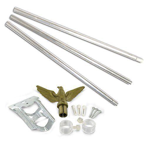 6/' Ft Flagpole Flag Pole kit Eagle Hardware Bracket Residential 6ft Pole w// Flag