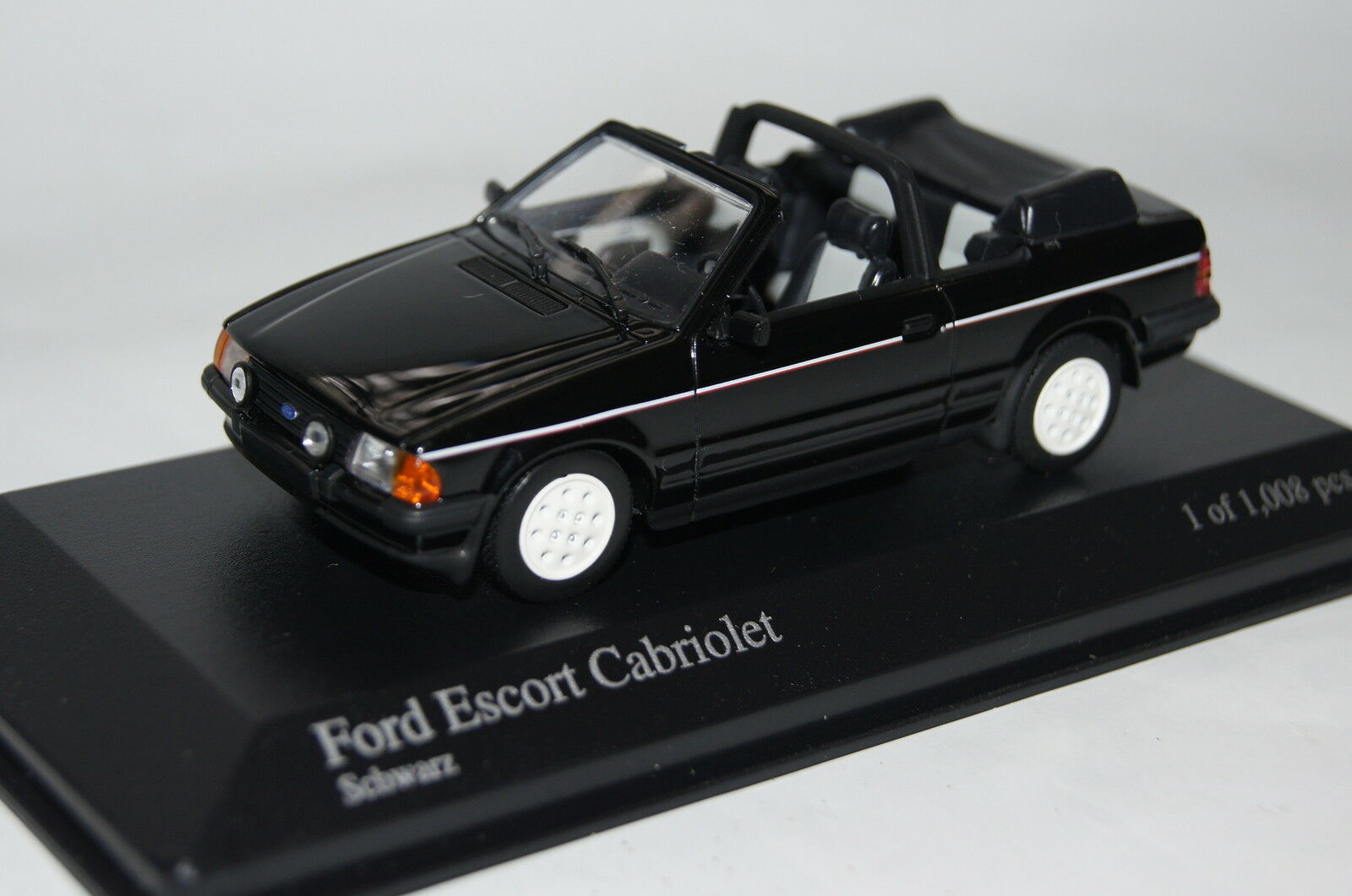 Ford ESCORT III CABRIOLET 1983 Noir 1 43 MINICHAMPS NEUF  OVP 400085031