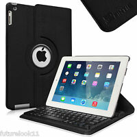 Leather Bluetooth Keyboard Case Cover For Apple Ipad 2/3/4 With Retina Display