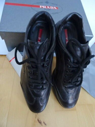 Scarpe da ginnastica nera Scarpe pelle Donna Nappa in Uk4 Eu Sneakers Calzature 37 Prada taglia Zxq8zw0Y