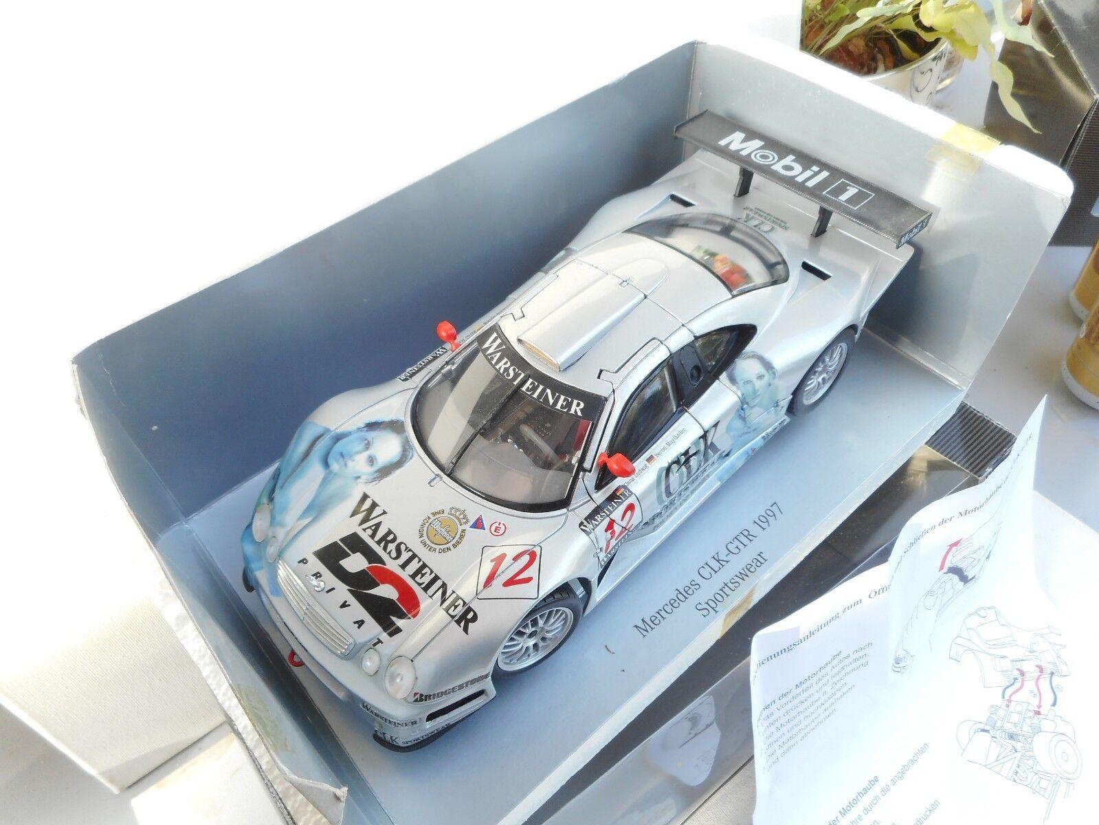 Maisto D2 Mercedes-Benz CLK-GTR 1997 1 18 Ludwig   Mayl Mint IN DEALER BOX