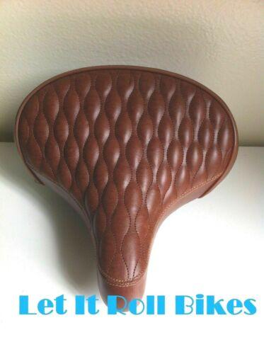 """Bicycle Seat Saddle 10/"""" X 10/"""" Brown Cruiser Bikes"""