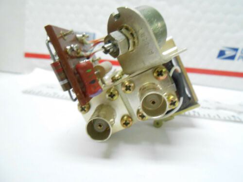 Y1166  504-7896-003 COLLINS RADIO FREQ  SWITCH//RELAY  N TO BNC    TARINISH NOS